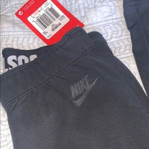 Black on black JUST DO IT Nike Leggings